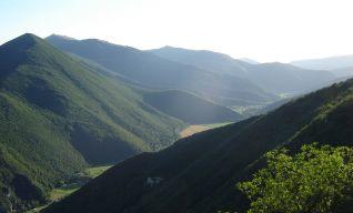 La vallata da monte Gemmo