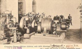 L'officina elettrica nel 1905